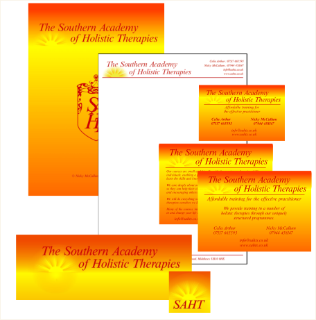 The Southern Academy of Holistic Therapies Stationery, Marketing & Business Card